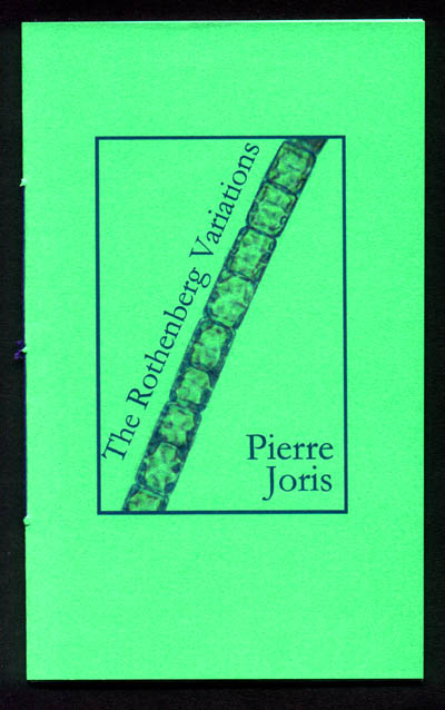 Cover of The Rothenberg Variations by Pierre Joris